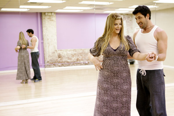 "<div class=""meta ""><span class=""caption-text "">Kirstie Alley, Emmy and Golden Globe-winning actress, gets some support from her partner Maksim Chmerkovskiy during rehearsal for season 12 of 'Dancing with the Stars,' premieres on March 21 at 8 p.m. on ABC. (Photo/Adam Taylor)</span></div>"