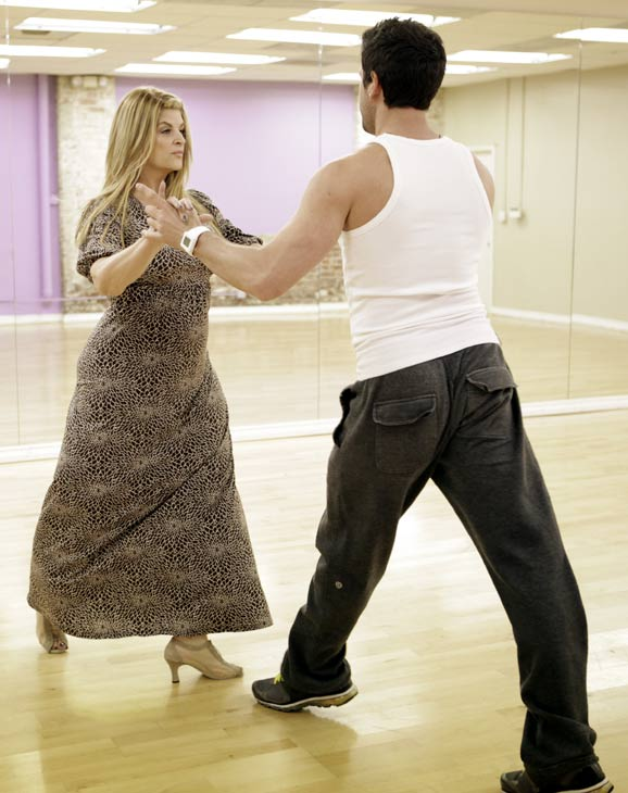 "<div class=""meta ""><span class=""caption-text "">Kirstie Alley, Emmy and Golden Globe-winning actress, gets ready for her dancing debut with her partner Maksim Chmerkovskiy during rehearsal for season 12 of 'Dancing with the Stars,' premieres on March 21 at 8 p.m. on ABC. (Photo/Adam Taylor)</span></div>"