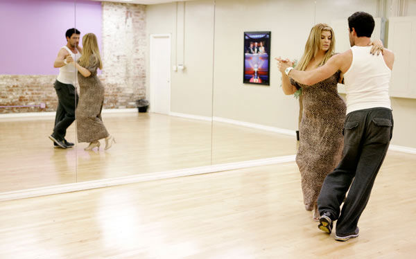 Kirstie Alley, Emmy and Golden Globe-winning actress, gets to know her partner Maksim Chmerkovskiy during rehearsal for season 12 of &#39;Dancing with the Stars,&#39; premieres on March 21 at 8 p.m. on ABC. <span class=meta>(Photo&#47;Adam Taylor)</span>