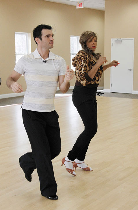 Wendy Williams, host of 'The Wendy Williams Show' gets happy feet with partner Tony Dovolani during rehearsal for season 12 of 'Dancing with the Stars,' premieres on March 21 at 8 p.m. on ABC.