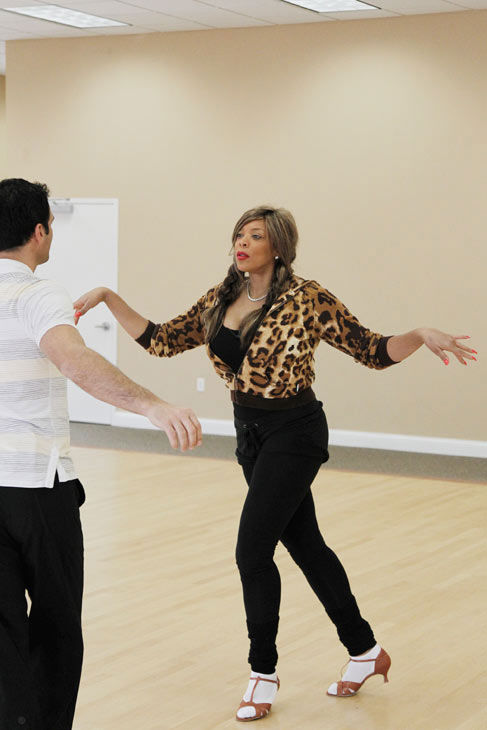 "<div class=""meta ""><span class=""caption-text "">Wendy Williams, host of 'The Wendy Williams Show' practices her jazz hands with partner Tony Dovolani during rehearsal for season 12 of 'Dancing with the Stars,' premieres on March 21 at 8 p.m. on ABC. (Photo/Lou Rocco)</span></div>"