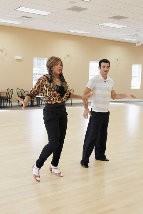 "<div class=""meta ""><span class=""caption-text "">Wendy Williams, host of 'The Wendy Williams Show' prepares for her dancing debut with partner Tony Dovolani during rehearsal for season 12 of 'Dancing with the Stars,' premieres on March 21 at 8 p.m. on ABC. (Photo/Lou Rocco)</span></div>"