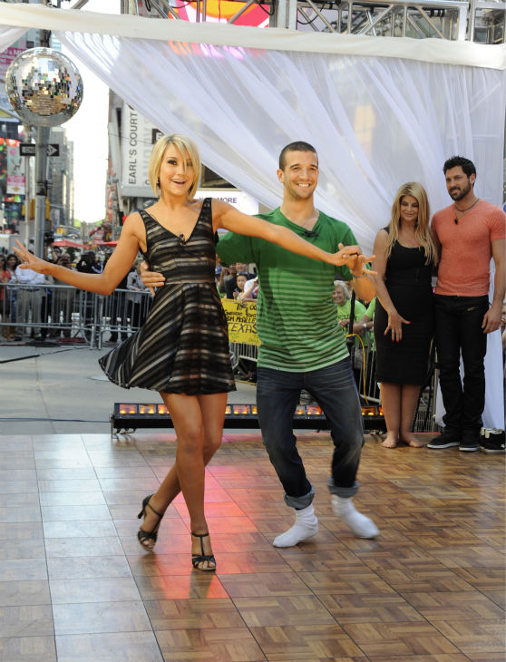"<div class=""meta image-caption""><div class=""origin-logo origin-image ""><span></span></div><span class=""caption-text"">'Dancing With The Stars' finalists Chelsea Kane and Mark Ballas appear on ABC's 'Good Morning America' on May 25, 2011. (ABC / Donna Svennevik)</span></div>"