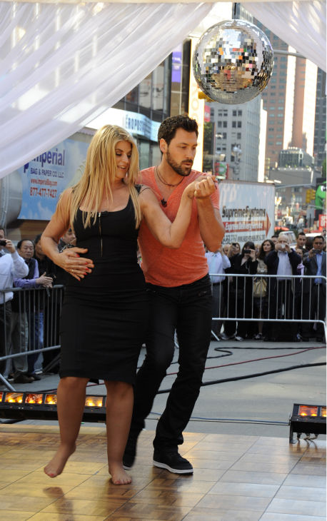 Kirstie Alley and Maksim Chmerkovskiy appear on ABC&#39;s &#39;Good Morning America&#39; on May 25, 2011. <span class=meta>(ABC &#47; Donna Svennevik)</span>