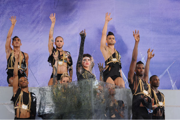 Lady Gaga performs live in Central Park to kick...