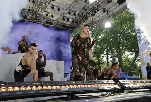 Lady Gaga performs live in Central Park to kick off the 'GMA Summer Concert Series,' which aired on 'Good Morning America' on May 27, 2011.