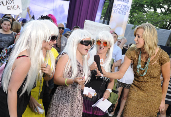 "<div class=""meta ""><span class=""caption-text "">Lady Gaga fans appear on 'Good Morning America's Summer Concert Series event on May 27, 2011 to watch the singer erform. (ABC / Ida Mae Astute)</span></div>"
