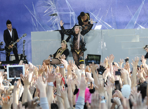 "<div class=""meta image-caption""><div class=""origin-logo origin-image ""><span></span></div><span class=""caption-text"">Lady Gaga performs live in Central Park to kick off the 'GMA Summer Concert Series,' which aired on 'Good Morning America' on May 27, 2011. (ABC / Ida Mae Astute)</span></div>"