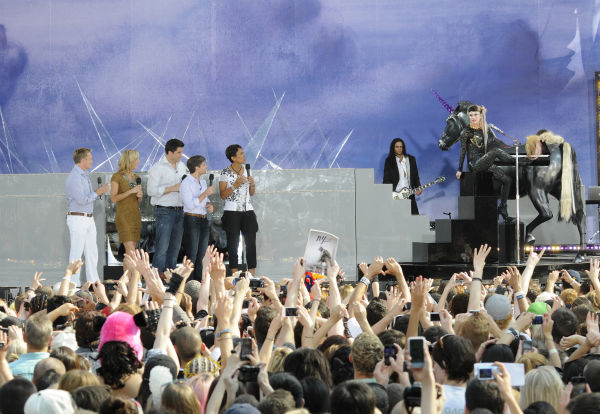 "<div class=""meta ""><span class=""caption-text "">Lady Gaga performs live in Central Park to kick off the 'GMA Summer Concert Series,' which aired on 'Good Morning America' on May 27, 2011. (ABC / Ida Mae Astute)</span></div>"