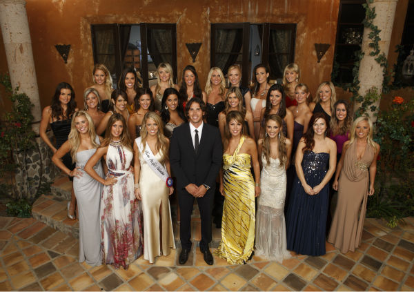 BACK ROW: Casey, Nicki, Brittney, Jamie, Jaclyn, Lyndsie, Blakely and Rachel. MIDDLE ROW: Courtney, Shawn, Dianna, Kacie, Elyse, Lindzi, Erika, Monica, Emily and Jenny. FRONT ROW: Anna, Amber B., Samantha, &#39;Bachelor&#39; Ben Flajnik, Amber T., Shira, Jennifer and Holly. <span class=meta>(ABC &#47; Craig Sjodin)</span>
