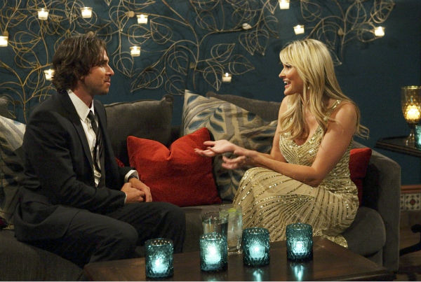 Brittney and Ben Flajnik appear in a scene from the premiere of the 16th season of ABC's 'The Bachelor,' which airs on Jan. 2, 2012.