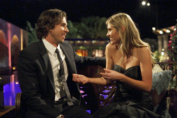 Lindzi and Ben Flajnik appear in a scene from the premiere of the 16th season of ABC's 'The Bachelor,' which airs on Jan. 2, 2012.