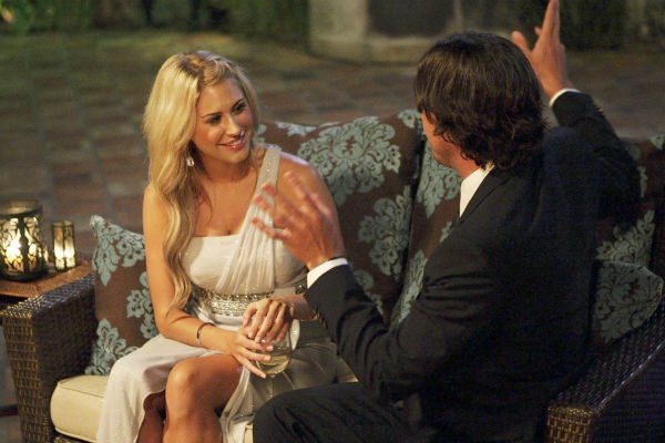 "<div class=""meta ""><span class=""caption-text "">Anna and Ben Flajnik appear in a scene from the premiere of the 16th season of ABC's 'The Bachelor,' which airs on Jan. 2, 2012. (ABC / Rick Rowell)</span></div>"