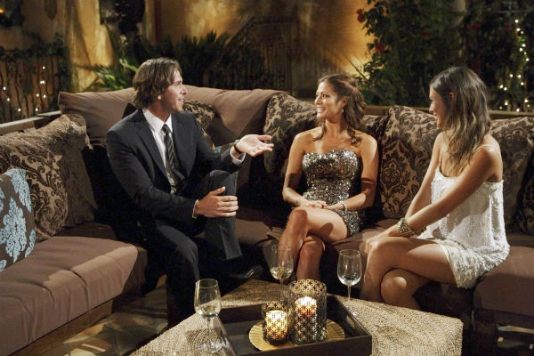 Kacie, Jenna and Ben Flajnik appear in a scene from the premiere of the 16th season of ABC's 'The Bachelor,' which airs on Jan. 2, 2012.