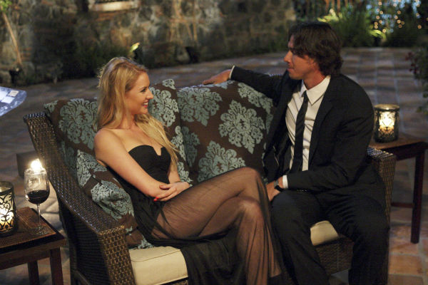 "<div class=""meta ""><span class=""caption-text "">Casey and Ben Flajnik appear in a scene from the premiere of the 16th season of ABC's 'The Bachelor,' which airs on Jan. 2, 2012. (ABC / Rick Rowell)</span></div>"