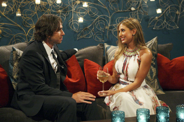 Amber B. and Ben Flajnik appear in a scene from...