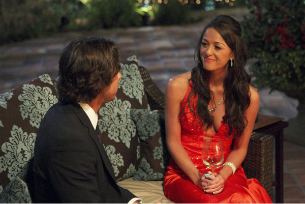"<div class=""meta image-caption""><div class=""origin-logo origin-image ""><span></span></div><span class=""caption-text"">Jamie and Ben Flajnik appear in a scene from the premiere of the 16th season of ABC's 'The Bachelor,' which airs on Jan. 2, 2012. (ABC / Rick Rowell)</span></div>"