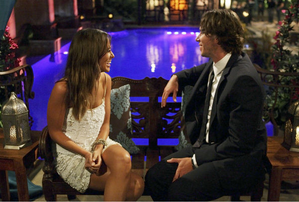Jenna and Ben Flajnik appear in a scene from the premiere of the 16th season of ABC's 'The Bachelor,' which airs on Jan. 2, 2012.