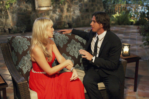 Rachel and Ben Flajnik appear in a scene from the premiere of the 16th season of ABC's 'The Bachelor,' which airs on Jan. 2, 2012.