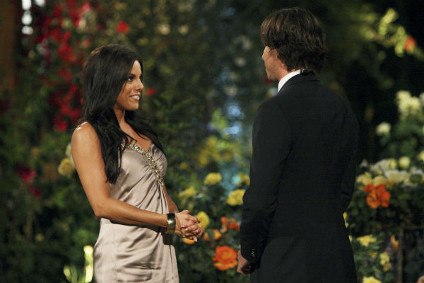 "<div class=""meta ""><span class=""caption-text "">Elyse and Ben Flajnik appear in a scene from the premiere of the 16th season of ABC's 'The Bachelor,' which airs on Jan. 2, 2012. (ABC / Rick Rowell)</span></div>"