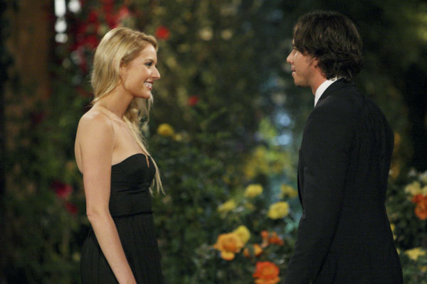 Casey and Ben Flajnik appear in a scene from the premiere of the 16th season of ABC's 'The Bachelor,' which airs on Jan. 2, 2012.