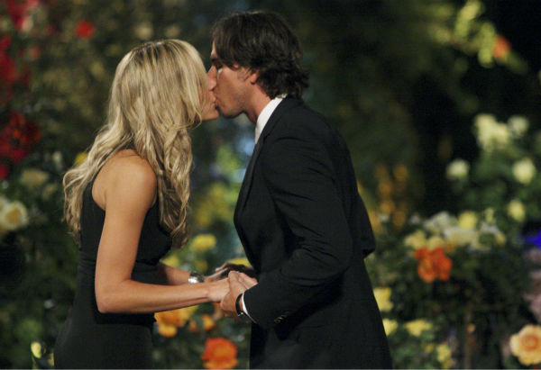 "<div class=""meta ""><span class=""caption-text "">Emily and Ben Flajnik appear in a scene from the premiere of the 16th season of ABC's 'The Bachelor,' which airs on Jan. 2, 2012. (ABC / Rick Rowell)</span></div>"
