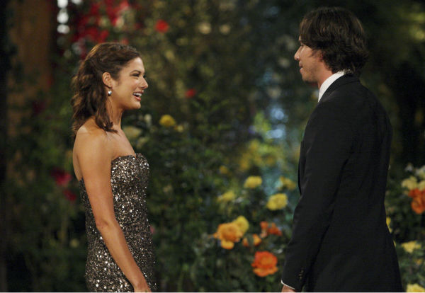 "<div class=""meta ""><span class=""caption-text "">Kacie and Ben Flajnik appear in a scene from the premiere of the 16th season of ABC's 'The Bachelor,' which airs on Jan. 2, 2012. (ABC / Rick Rowell)</span></div>"