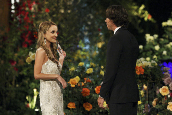 "<div class=""meta ""><span class=""caption-text "">Shira and Ben Flajnik appear in a scene from the premiere of the 16th season of ABC's 'The Bachelor,' which airs on Jan. 2, 2012. (ABC / Rick Rowell)</span></div>"