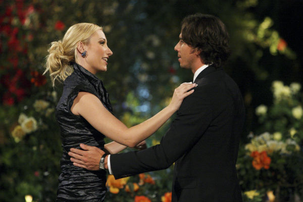 "<div class=""meta ""><span class=""caption-text "">Lyndsie and Ben Flajnik appear in a scene from the premiere of the 16th season of ABC's 'The Bachelor,' which airs on Jan. 2, 2012. (ABC / Rick Rowell)</span></div>"