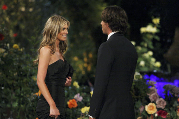 "<div class=""meta ""><span class=""caption-text "">Lindzi and Ben Flajnik appear in a scene from the premiere of the 16th season of ABC's 'The Bachelor,' which airs on Jan. 2, 2012. (ABC / Rick Rowell)</span></div>"