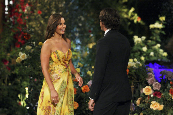 "<div class=""meta ""><span class=""caption-text "">Nicki and Ben Flajnik appear in a scene from the premiere of the 16th season of ABC's 'The Bachelor,' which airs on Jan. 2, 2012. (ABC / Rick Rowell)</span></div>"