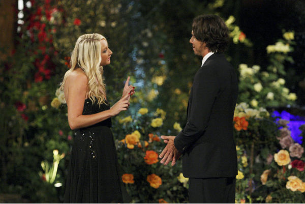 Jaclyn and Ben Flajnik appear in a scene from the premiere of the 16th season of ABC's 'The Bachelor,' which airs on Jan. 2, 2012.