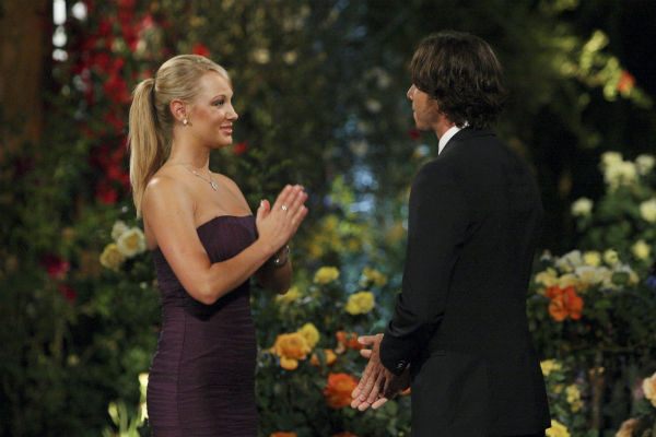 Monica and Ben Flajnik appear in a scene from the premiere of the 16th season of ABC's 'The Bachelor,' which airs on Jan. 2, 2012.