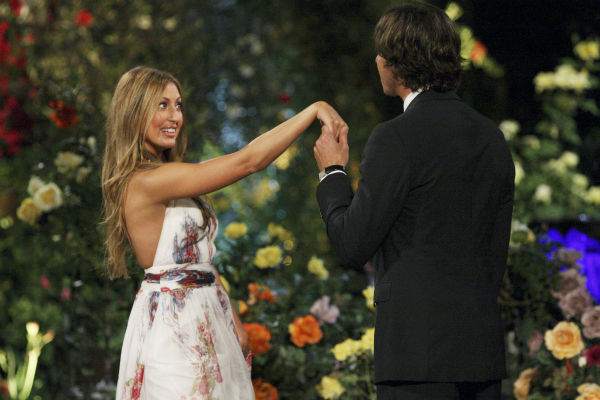 "<div class=""meta ""><span class=""caption-text "">Amber B. and Ben Flajnik appear in a scene from the premiere of the 16th season of ABC's 'The Bachelor,' which airs on Jan. 2, 2012. (ABC / Rick Rowell)</span></div>"