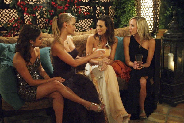"<div class=""meta ""><span class=""caption-text "">Kacie, Monica, Blakeley and Emily appear in a scene from the premiere of the 16th season of ABC's 'The Bachelor,' which airs on Jan. 2, 2012.  (ABC / Rick Rowell)</span></div>"