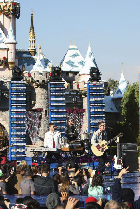 The band OneRepublic appears at the 2011 Disney Parks Christmas Day Parade at Disneyland in Anaheim, California, on Nov. 5, 2011. The show airs Christmas Day, at various times across the country, on ABC.  <span class=meta>(Disneyland &#47; Paul Hiffmeyer)</span>