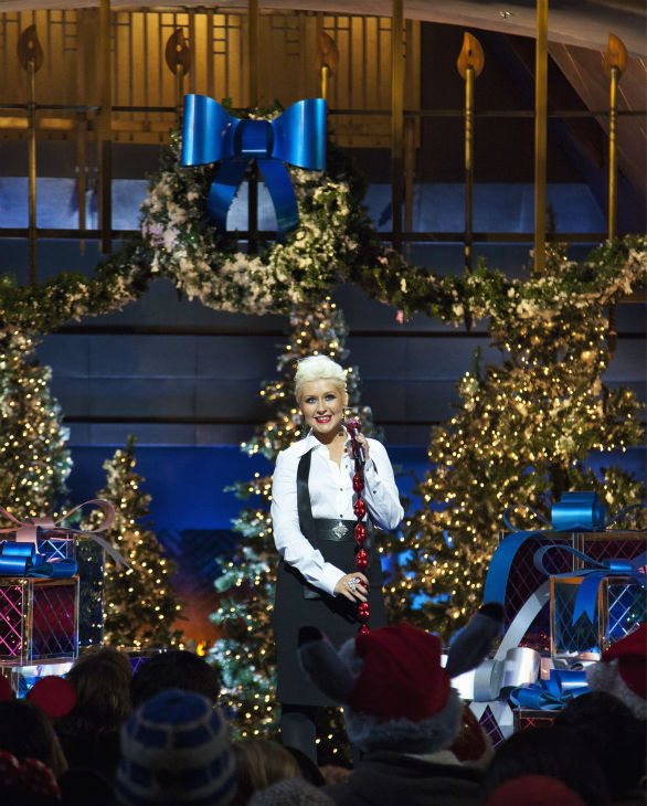 Christina Aguilera appears at the 2011 Disney Parks Christmas Day Parade at Disneyland in Anaheim, California, on Nov. 5, 2011. The show airs Christmas Day, at various times across the country, on ABC.
