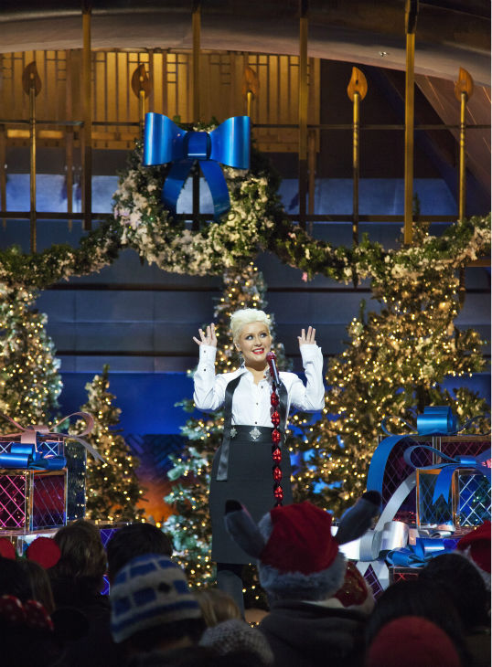 Christina Aguilera appears at the 2011 Disney Parks Christmas Day Parade at Disneyland in Anaheim, California. The show airs Christmas Day, at various times across the country, on ABC.