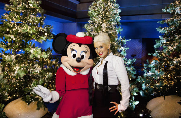 Christina Aguilera appears at the 2011 Disney Parks Christmas Day Parade at Disneyland in Anaheim, California. The show airs Christmas Day, at various times across the country, on ABC.  <span class=meta>(Disneyland &#47; Paul Hiffmeyer)</span>