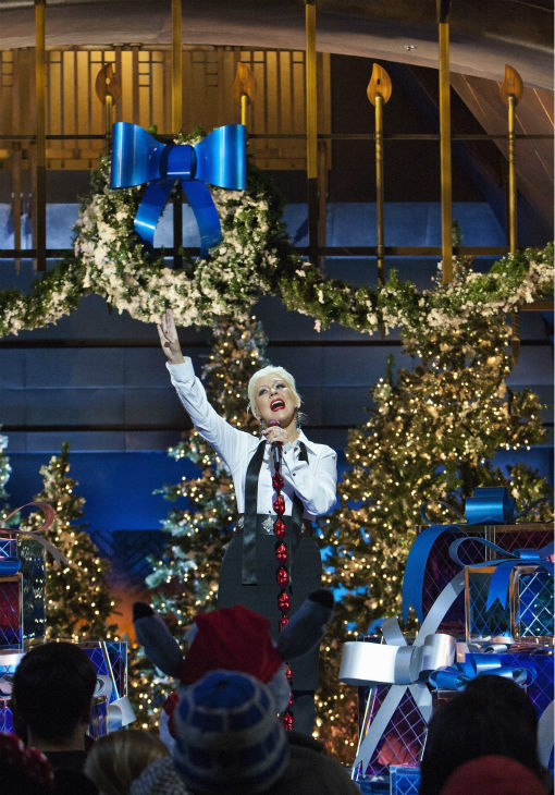 Christina Aguilera appears at the 2011 Disney Parks Christmas Day Parade at Disneyland in Anaheim, California.