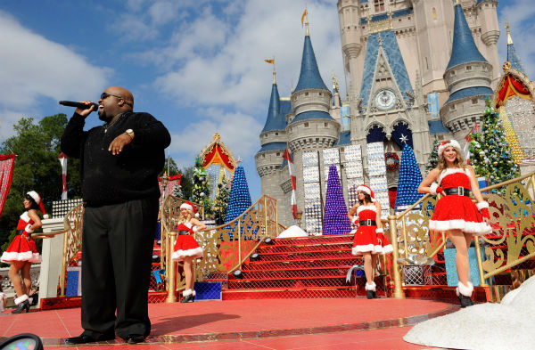 Cee Lo Green appears at the 2011 Disney Parks Christmas Day Parade at Disneyland in Anaheim, California. The show airs Christmas Day, at various times across the country, on ABC.