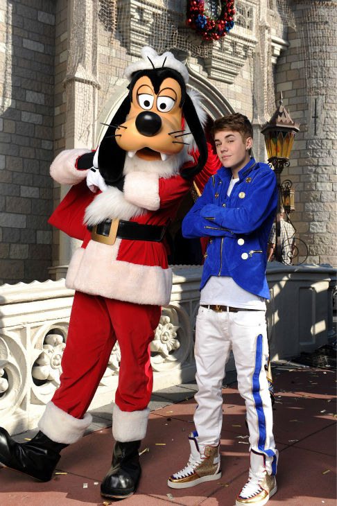 Justin Bieber appears at the 2011 Disney Parks Christmas Day Parade at Walt Disney World&#39;s Magic Kingdom in Florida. The special airs Christmas Day, at various times across the country, on ABC.  <span class=meta>(Disney &#47; Mark Ashman)</span>