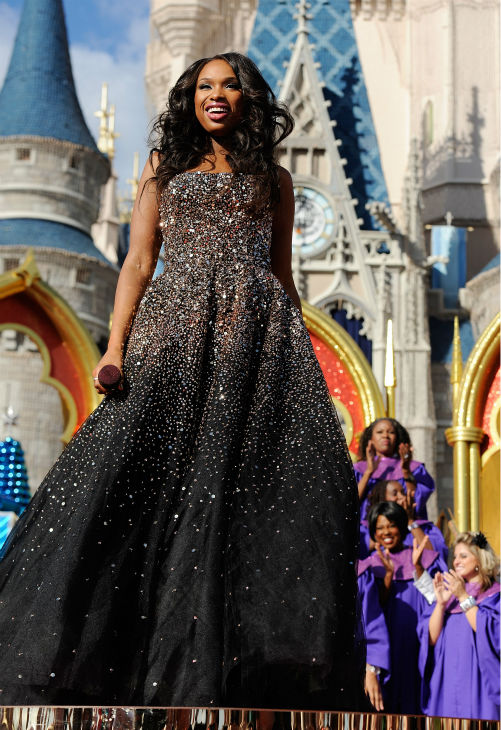 Jennifer Hudson appears at the 2011 Disney Parks Christmas Day Parade at Walt Disney World's Magic Kingdom in Florida. The special airs Christmas Day, at various times across the country, on ABC.