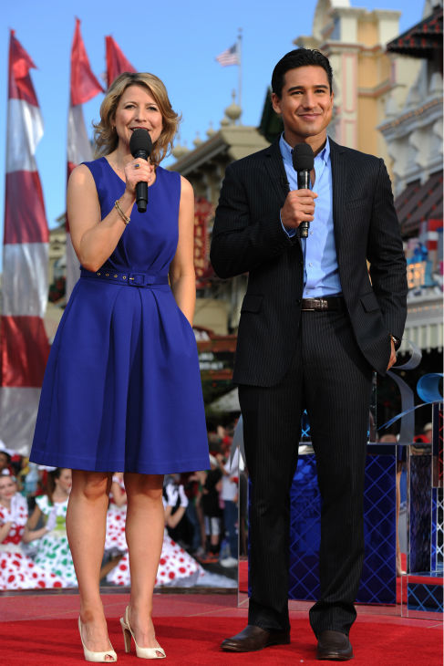 "<div class=""meta ""><span class=""caption-text "">Mario Lopez and Samanta Brown appear at the 2011 Disney Parks Christmas Day Parade at Walt Disney World's Magic Kingdom in Florida. The special airs Christmas Day, at various times across the country, on ABC.  (Disney / Mark Ashman)</span></div>"