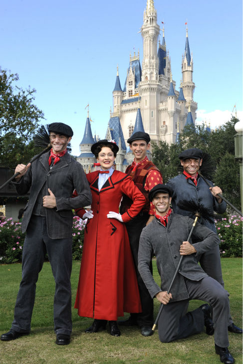Cast members playing characters from 'Mary Poppins' appear at the 2011 Disney Parks Christmas Day Parade at Walt Disney World's Magic Kingdom in Florida. The special airs Christmas Day, at various times across the country, on ABC.