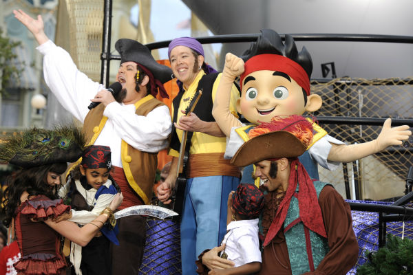 Pirate character actors appear at the 2011...