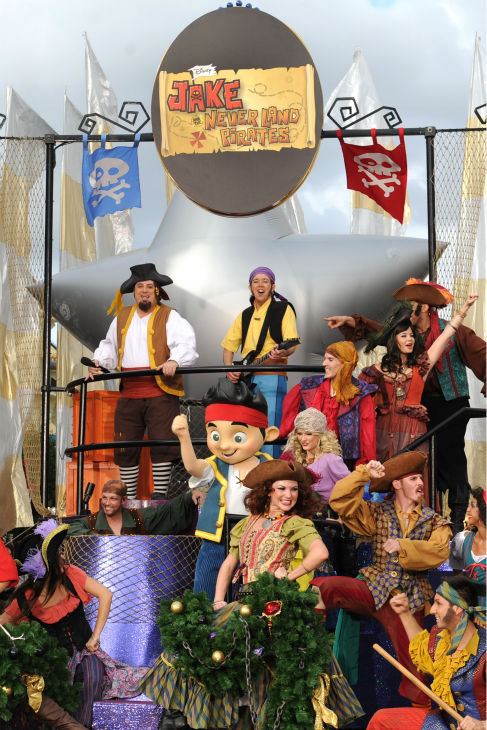 Pirate character actors appear at the 2011 Disney Parks Christmas Day Parade at Walt Disney World's Magic Kingdom in Florida. The special airs Christmas Day, at various times across the country, on ABC.