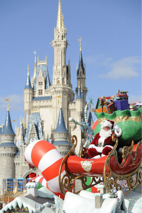 Santa Claus appears at the 2011 Disney Parks...