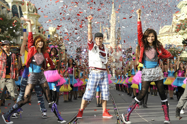 Zendaya Coleman and Bella Thorne from the 'Disney Channel' series 'Shake I Up!' appear at the 2011 Disney Parks Christmas Day Parade at Walt Disney World's Magic Kingdom in Florida. The special airs Christmas Day, at various times across the country, on A