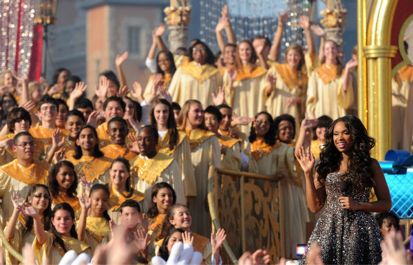"<div class=""meta ""><span class=""caption-text "">Jennifer Hudson appears at the 2011 Disney Parks Christmas Day Parade at Walt Disney World's Magic Kingdom in Florida. The special airs Christmas Day, at various times across the country, on ABC.  (Disney / Mark Ashman)</span></div>"